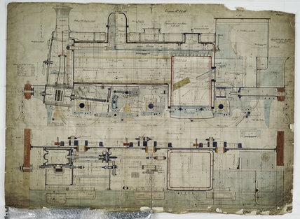 General arrangement drawing of Denaby Main Colliery Railway '0-6-0' tank locomotive.39254_6216