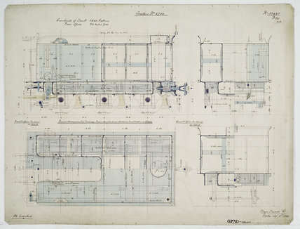 General arrangement drawing of Western Australian Government Railway tender unit for '2-6-0' locomotive.39448_6730