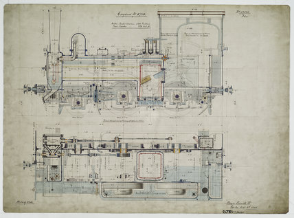 General arrangement drawing of Batavia Ooster Railway (Indonesia) '2-4-0' tank locomotive.39565_6716