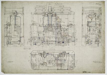 General arrangement drawing of Manchester, Bury, Rochdale & Oldham Steam Tramway '0-4-0' tram locomotive.39790_6736