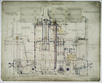 General arrangement drawing of Manchester, Bury, Rochdale & Oldham Steam Tramway '0-4-0' tram locomotive.39795_6737