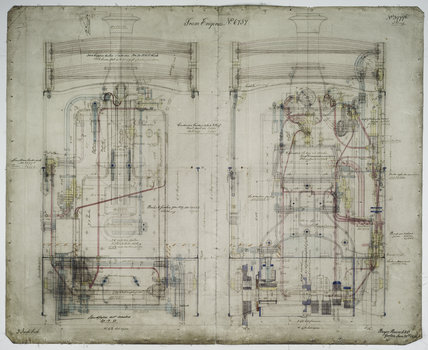 General arrangement drawing of Manchester, Bury, Rochdale & Oldham Steam Tramway '0-4-0' tram locomotive.39796_6737