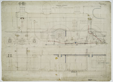 General arrangement drawing of Eastern & Midlands Railway '4-4-0' locomotive.40630_6825