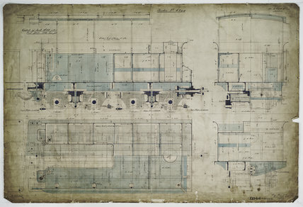 General arrangement drawing of Costa Rica Railway tender unit for '2-6-0' locomotive.40744_6844