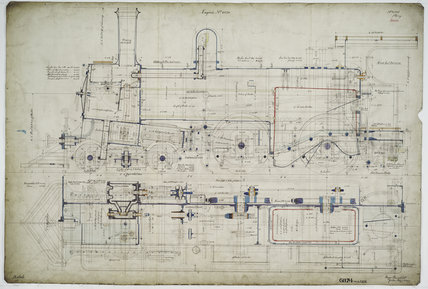 General arrangement drawing of Western Australian Land Company Railway '4-4-0' locomotive.41335_6874