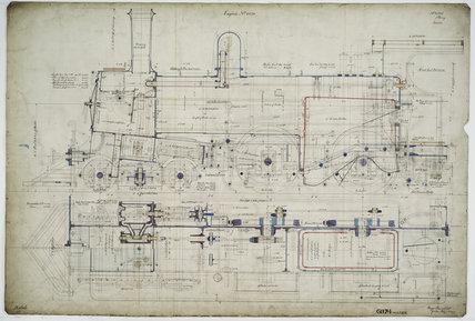General arrangement drawing of Western Australian Land Company Railway '4-4-0' locomotive.41335_6874