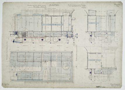 General arrangement drawing of Western Australian Land Company Railway tender unit for '4-4-0' locomotive.41346_6875