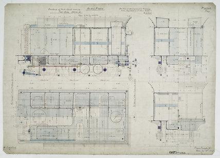General arrangement drawing of Western Australian Land Company Railway tender unit for '4-4-0' locomotive.41346_6875