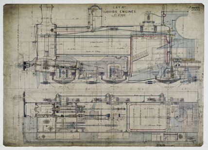 General arrangement drawing of Lancashire & Yorkshire Railway '0-6-0' locomotive.41652_6906