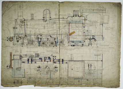 General arrangement drawing of Puerto Cabello & Valencia Railway (Venezuela) '0-4-2' rack locomotive.42050_6909