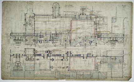 General arrangement drawing of Mersey Railway '2-6-2' tank locomotive.42194_6925