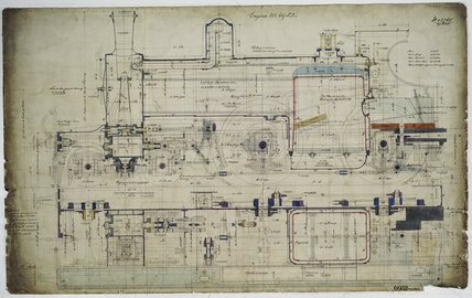 General arrangement drawing of Lancashire & Yorkshire Railway '4-4-0' locomotive.42765_6952
