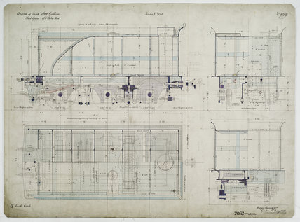 General arrangement drawing of Silverton Tramway (Australia) tender unit for '2-6-0' locomotive.43282_7052
