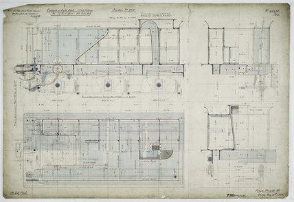 General arrangement drawing of Pennsylvania Railway (USA) '2-2-2-0' locomotive.43425_7018