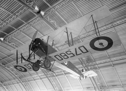 (1) Avro 504K biplane D7560 with 130hp Clerget engine no. 52090; (2) Aeroplane Log Book; (3) Engine Log Book; and (4) 30 hour - non-luminous Mk.V watch