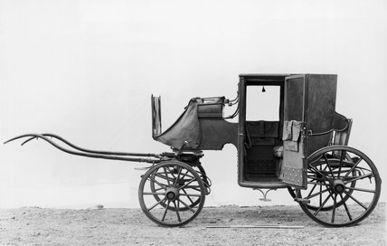 Original brougham carriage, 1838.