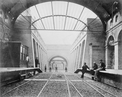 Notting Hill Gate railway station, c late 19th Century.