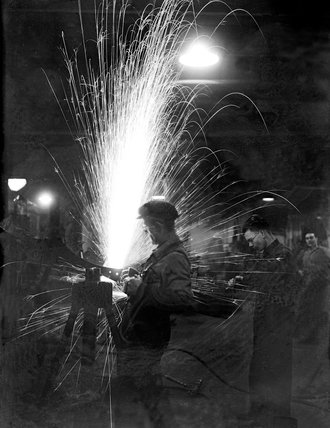 A fine display of sparks in a munition factory - 9-January-1942