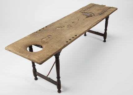 18th to 19th century wooden dissecting table, European, 1750-1870.