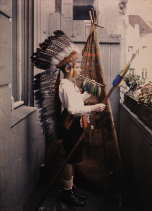 Heinz Paneth in Native American Costume