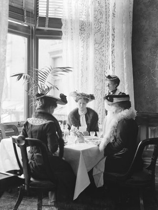 Afternoon tea at Holyhead, about 1905