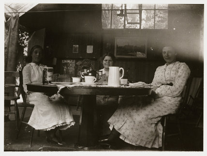 Women drinking tea, about 1900