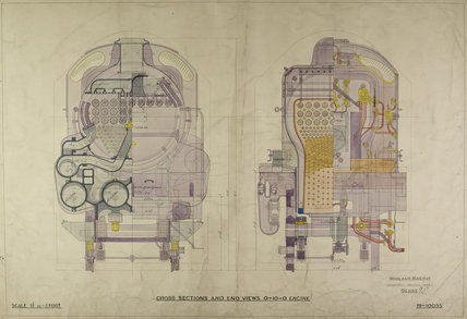 Cross sections and end view 0-10-0 Engine