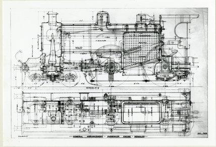Midland Railway Class 2, 4-4-0 (drawing no 08-7651)