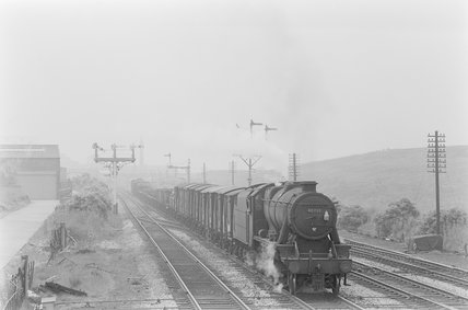 A steam locomotive hauling a goods train,A1969.70/Box 5/Neg 1237/31