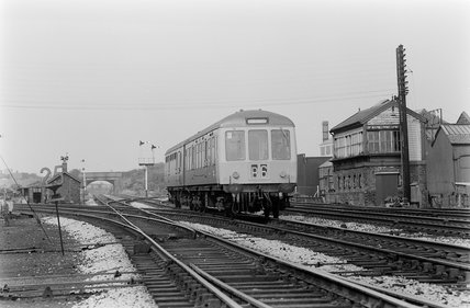 A diesel Multiple Unit (DMU),A1969.70/Box 5/Neg 1237/33