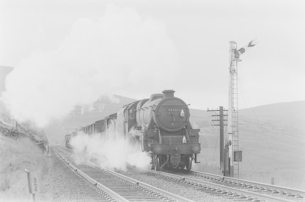 A steam locomotive hauling a goods train,A1969.70/Box 5/Neg 1240/16