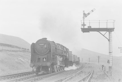 A steam locomotive hauling a goods train,A1969.70/Box 5/Neg 1243/25