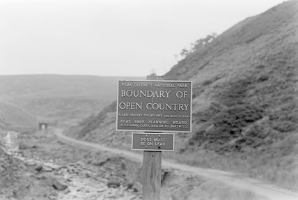 A Peak District National Park signpost,A1969.70/Box 5/Neg 1244/10