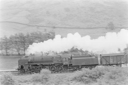 A steam locomotive hauling a goods train,A1969.70/Box 5/Neg 1244/13