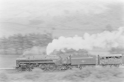 A steam locomotive hauling a goods train,A1969.70/Box 5/Neg 1246/18
