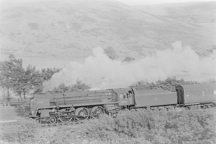A steam locomotive hauling a goods train,A1969.70/Box 5/Neg 1246/19