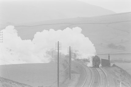 A steam locomotive hauling a goods train,A1969.70/Box 5/Neg 1255/28
