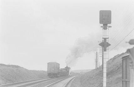 A steam locomotive hauling a goods train,A1969.70/Box 5/Neg 1257/14