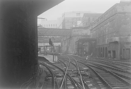 A view of the station from the tracks,A1969.70/Box 5/Neg 1263/31
