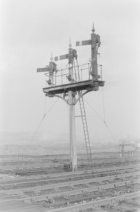 A signal gantry,A1969.70/Box 5/Neg 1265/20