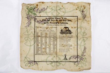Pretoria Pit souvenir napkin, 1910