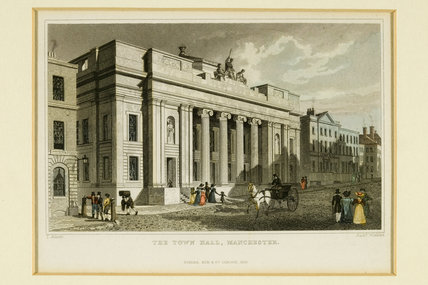 Manchester Town Hall, 1836.