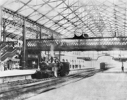 The Interior of Victoria Railway Station. Nottingham, c1900