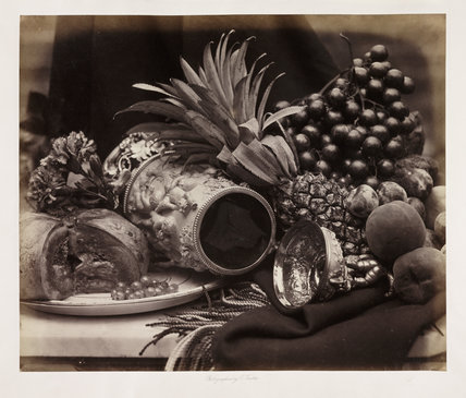 'Still life with ivory tankard and fruit'
