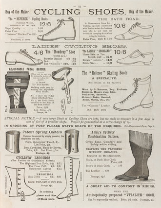 Cycling Shoes, Boots and Gaiters