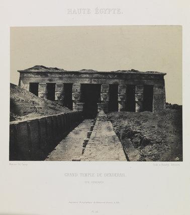 Haute Égypte, Grand Temple de Denderah, vue genérale', 1852