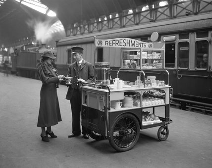 Refreshment trolley, 1937
