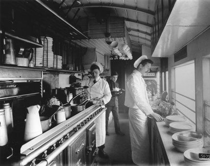 Kitchen car on the Great Eastern Railway's Norfolk Coast Express