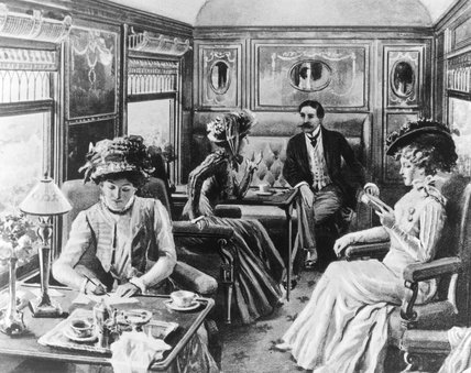 Interior of Pullman car 'Belgravia',  c 19th century