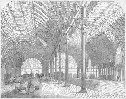The Great Western Railway New Terminus at Paddington 1854